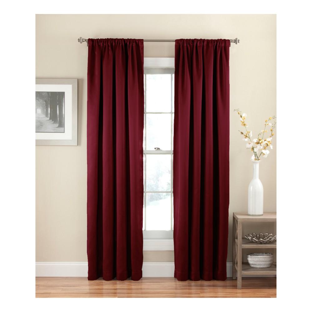 Solid Thermapanel Room Darkening Curtain Merlot 54X54 - Eclipse