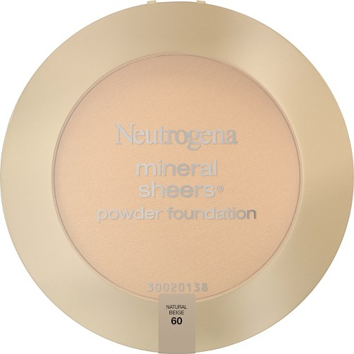 Neutrogena Mineral Sheers Compact Powder - 60 Natural Beige, Natural Beige 60