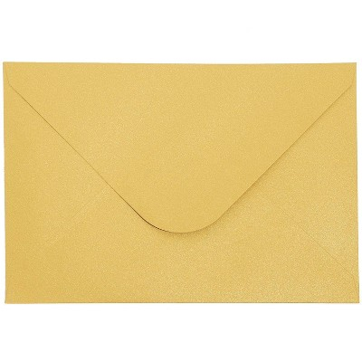 Paper Junkie 24-Pack Laser Cut Gold Shimmer Invitations Cards with Envelopes for Wedding Bridal Shower, 7x5 in