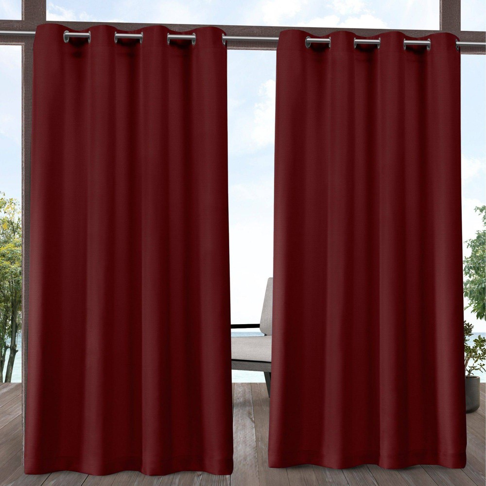 84 34 X54 34 Delano Grommet Top Light Filtering Window Curtain Panels Red Exclusive Home