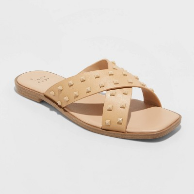 Women's Emmy Studded Crossband Sandals - A New Day™