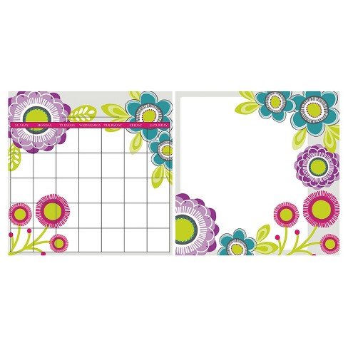 Wall Pops! ® Dry Erase Calendar Decal Set Monthly - Floral - image 1 of 2