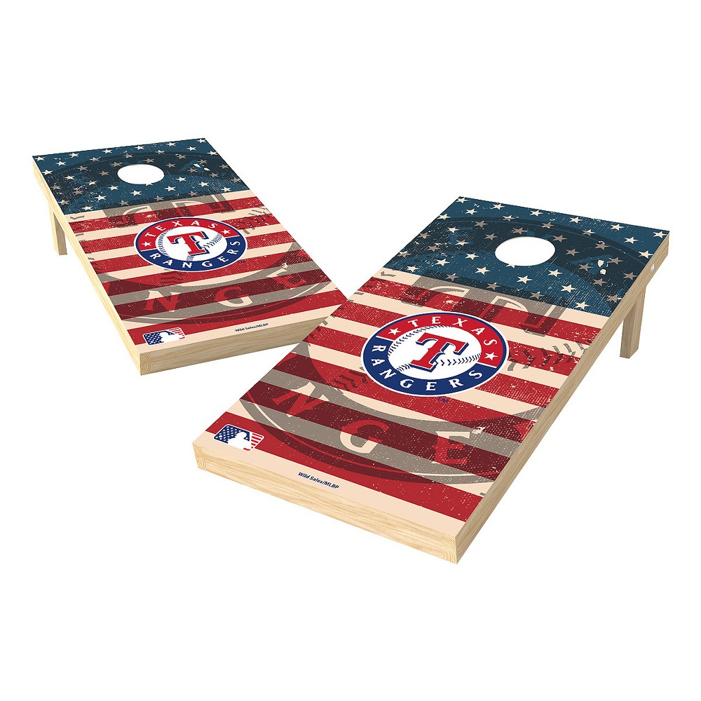 MLB Texas Rangers Wild Sports 2x4 Tailgate Toss Cornhole Shield - Stars and Stripes