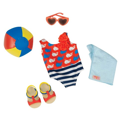 Our Generation Regular Swimsuit Outfit - Having a Ball (Whales) - image 1 of 2