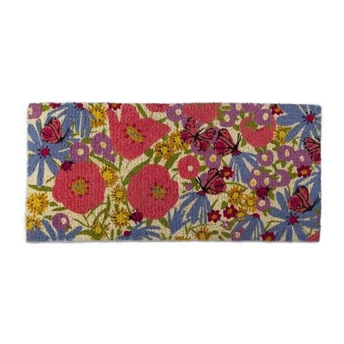 TAG Summer Butrfly Estate Coir Doormat Indoor Outdoor Welcome Mat - image 1 of 2