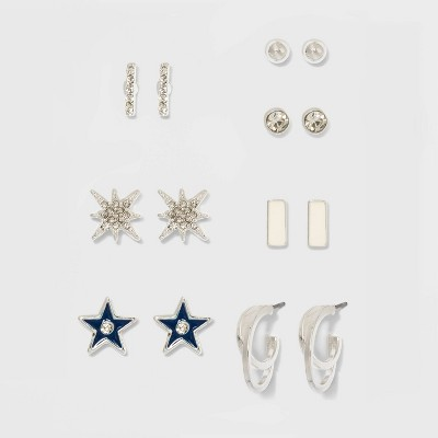 Earring Set 8pc - A New Day™ Silver
