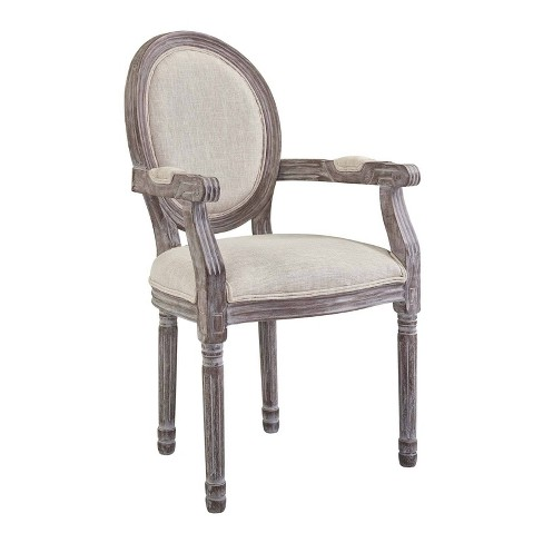 Emanate Vintage French Upholstered Fabric Dining Armchair - Modway - image 1 of 4