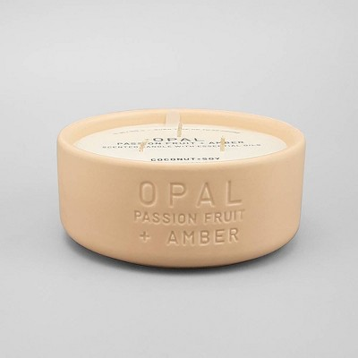 11oz Ceramic Jar 3-Wick Candle Opal - Passion Fruit & Amber - Project 62™