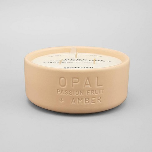 11oz Ceramic Jar 3-Wick Candle Opal - Passion Fruit & Amber - Project 62™ - image 1 of 1