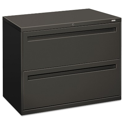 HON 700 Series Two-Drawer Lateral File 36w x 19-1/4d Charcoal 782LS