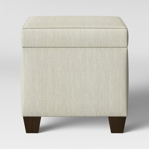 Peachy Fairland Square Storage Ottoman Beige Threshold Customarchery Wood Chair Design Ideas Customarcherynet