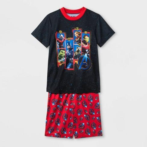 Boys' Avengers 2pc Pajama Set - Black/Red - image 1 of 1