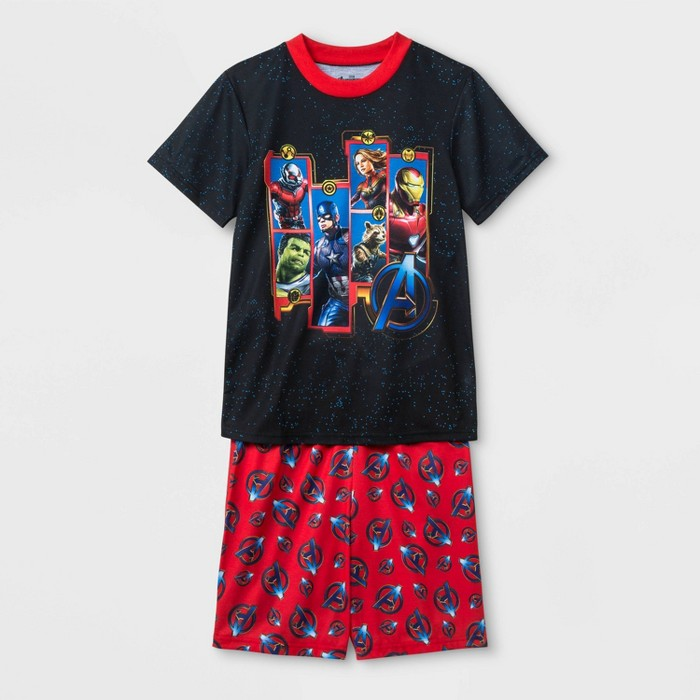 Boys' Avengers 2pc Pajama Set - Black/Red - image 1 of 1