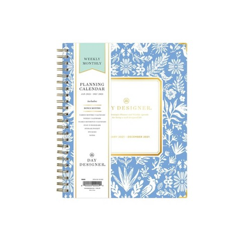 "2021 Planner 6"" x 8"" Hard Cover Weekly/Monthly Wirebound Enchanted Forest - Day Designer - image 1 of 4"