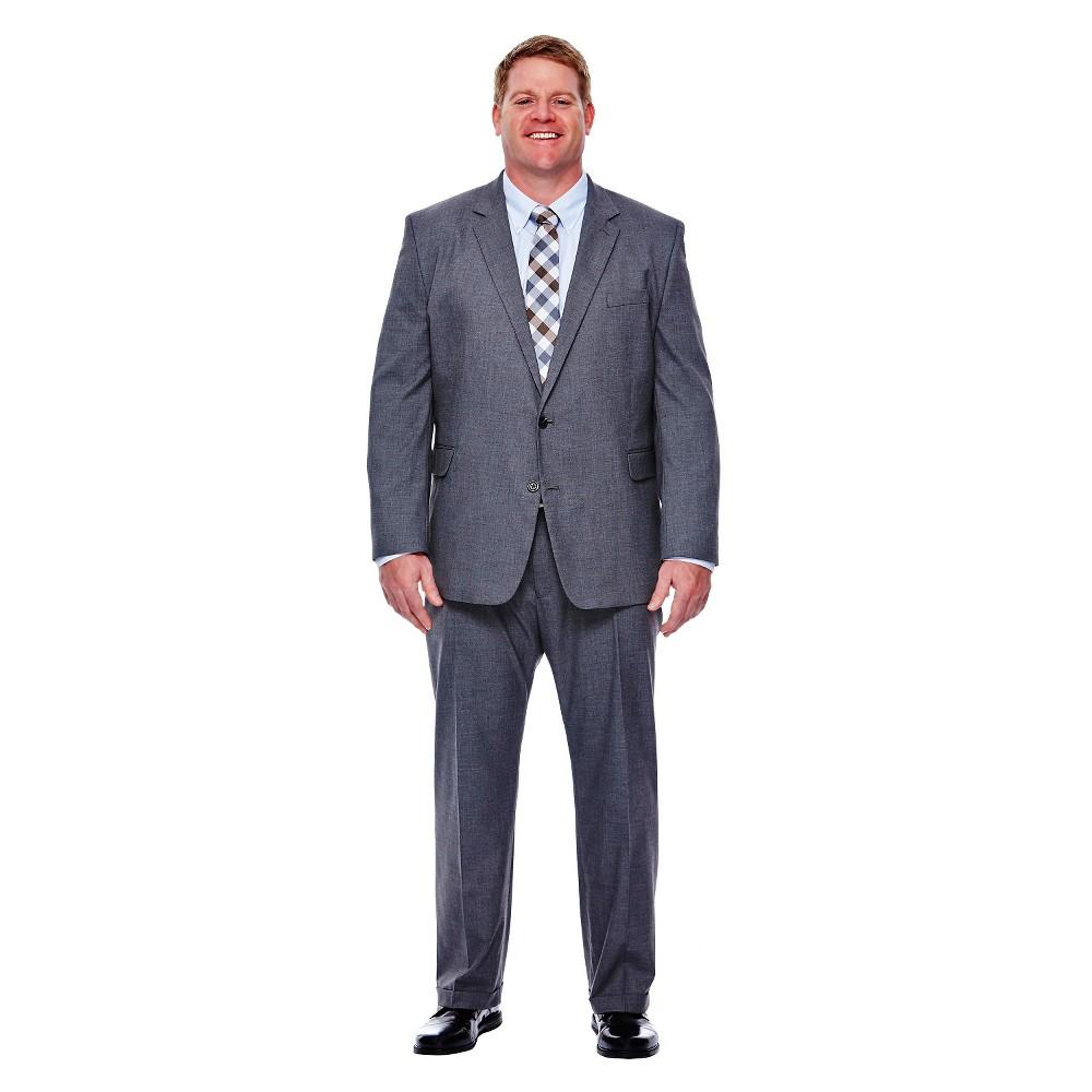 Haggar H26 - Men's Big & Tall Classic Fit Stretch Suit Jacket Medium Gray 52L, Size: 52 Long, Mid Grey