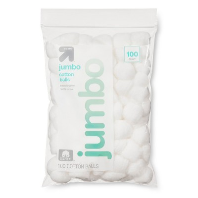 Jumbo Cotton Balls - 100ct - Up&Up™