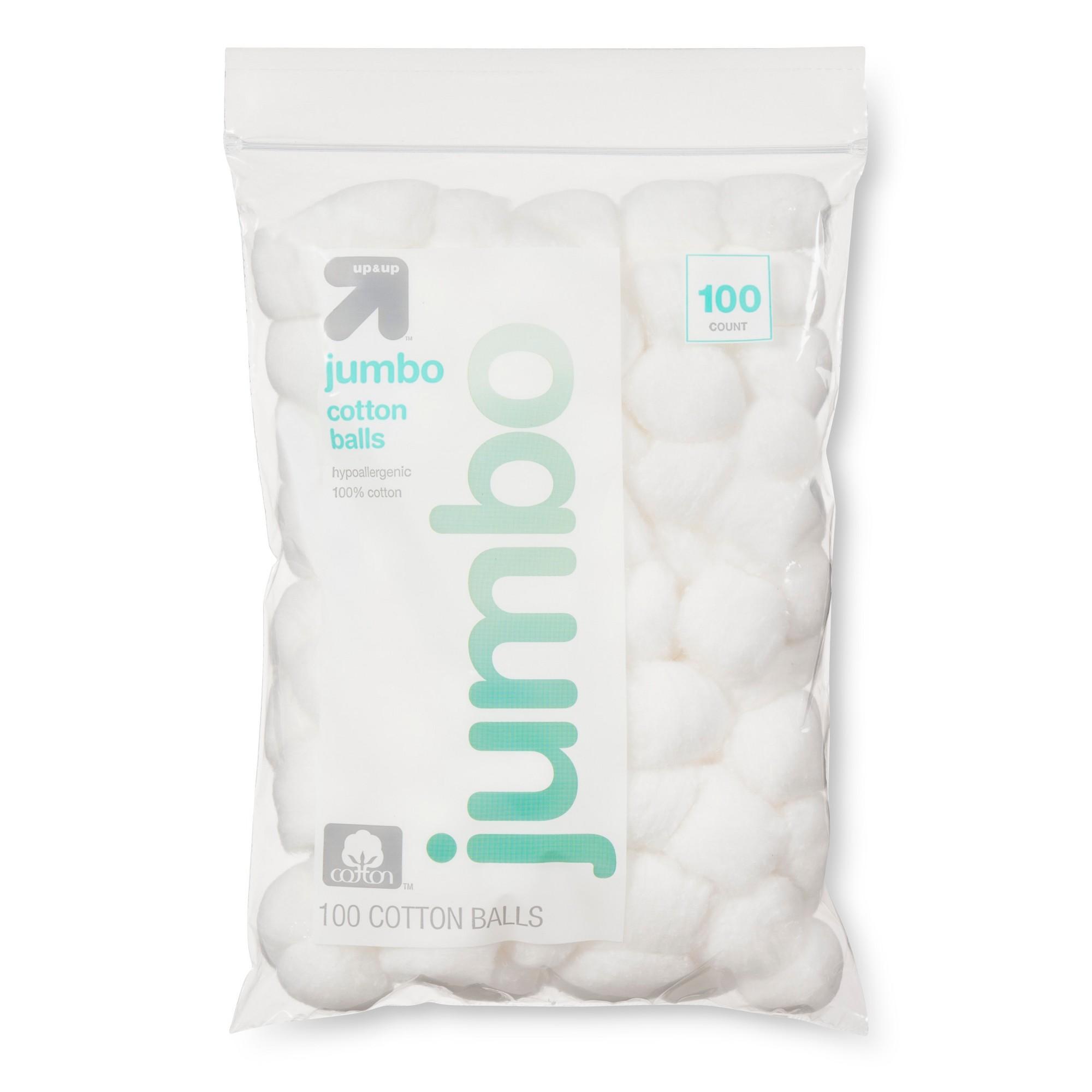 Jumbo Cotton Balls - 100ct - Up&Up