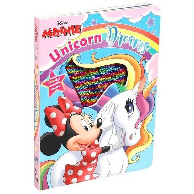 Disney Minnie Mouse: Unicorn Dreams - (Reversible Sequins) (Board Book)