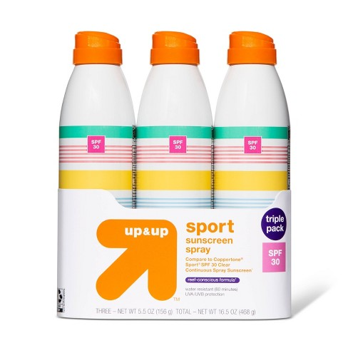 Continuous Sport Sunscreen Spray - 3pk - SPF 30 - 16.5oz - Up&Up™ - image 1 of 1