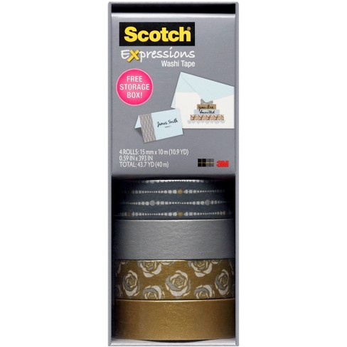 Scotch Washi Tape Silver Multipack - image 1 of 4