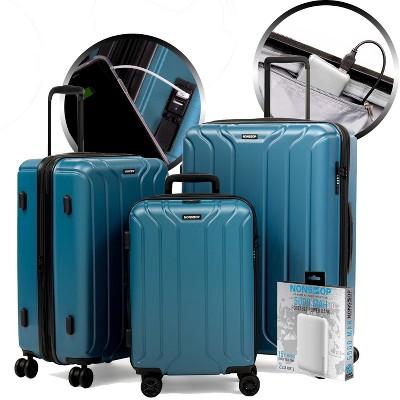 "NONSTOP NEW YORK Collection 3 Piece Set (20""/24""/28"") + PowerBank 4-Wheel Luggage Sets + PowerBank"