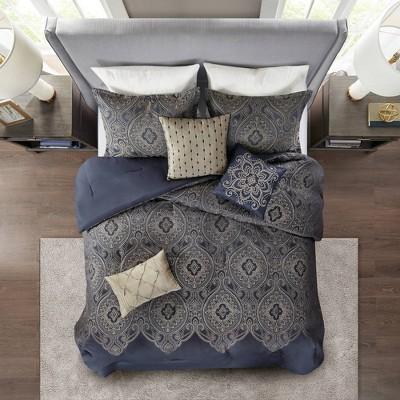 7pc Maya Jacquard Comforter Set