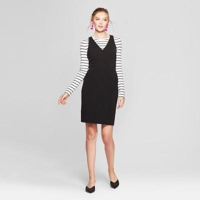cbb3ae0beec8d8 Women s Sleeveless Scuba Shift Dress - A New Day™ Black