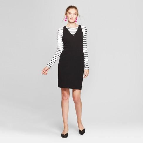 Womens Sleeveless Scuba Shift Dress A New Day Black Target