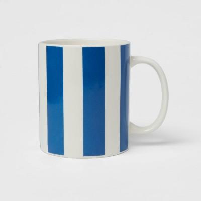 15oz Stoneware Stripes Mug Blue - Room Essentials™