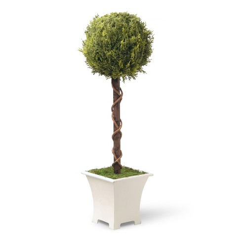 "Artificial Single Ball Topiary Tree Green 30"" - National Tree Company® - image 1 of 1"