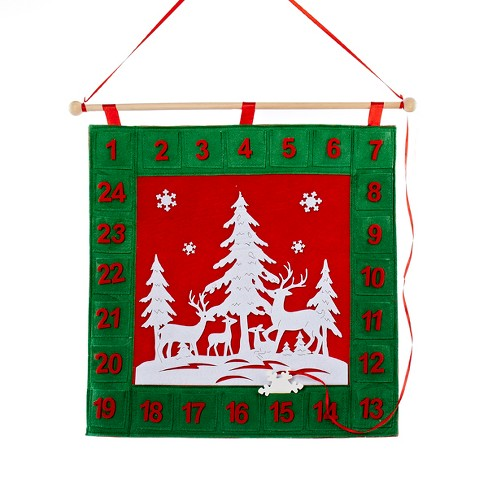 """Kurt S. Adler 18.5"""" Red, Green and White Advent Calendar Countdown Christmas Decoration - image 1 of 1"""