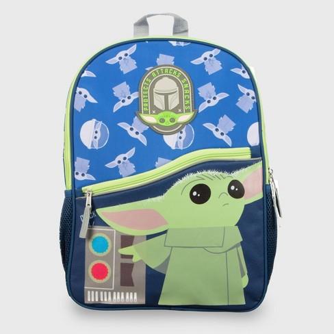 Star Wars: The Mandalorian 16'' Kids' Backpack - Blue - image 1 of 4