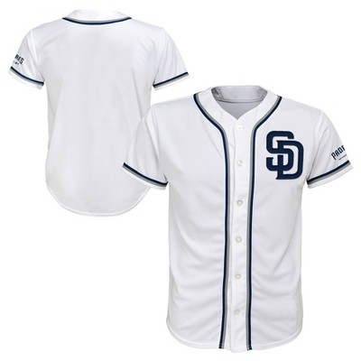 buy online 0a47a a5e3a San Diego Padres Boys' White Team Jersey - S : Target