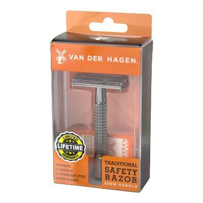 Van Der Hagen 85 MM Gunmetal Safety Razor Blades - 5pk