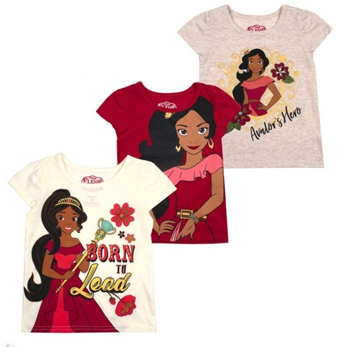 Disney Girl's 3-Pack Sleeve Graphic Tees for Kids - image 1 of 4