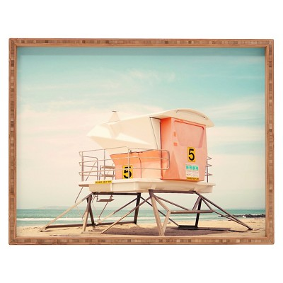 Bree Madden Beach Tower 5 Rectangle Tray - Blue - Deny Designs
