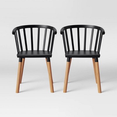 Beau Set Of 2 Balboa Barrel Back Dining Chair   Project 62™