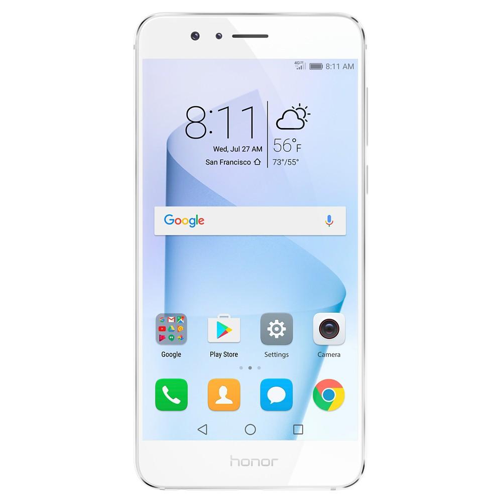 Huawei Honor 8 32GB Gsm 4G Lte Quad-Core 12MP Dual Lens Camera (Unlocked) - White