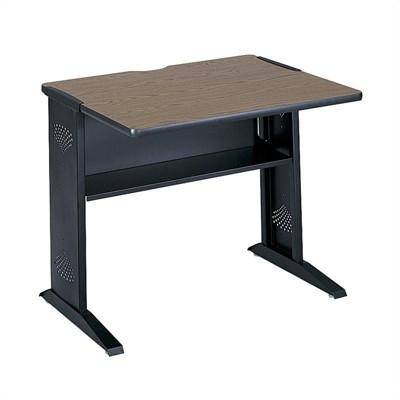 "36""W Reversible Top Wood Credenza Desk in Brown-Scranton & Co"