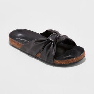 0934251b6bd Women s Kessa Laser Cut Toe Thong Sandals – Universal Thread™ Black ...