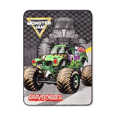 """Monster Jam 46""""x60"""" Throw Black/Green"""