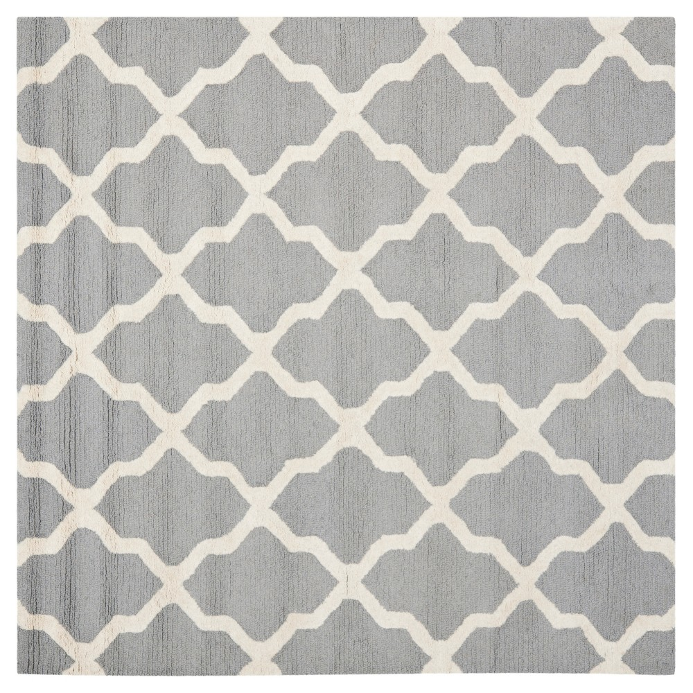 Maison Textured Rug - Silver / Ivory (6'X6') - Safavieh, Silver/Ivory