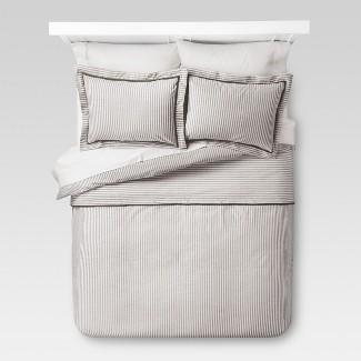 Gray Yarn Dye Stripe Duvet Cover Set (King) 3pc - Threshold™