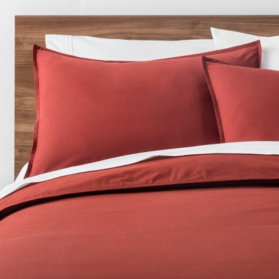 Red Easy Care Solid Duvet Cover Set (Full/Queen)- Made By Design™