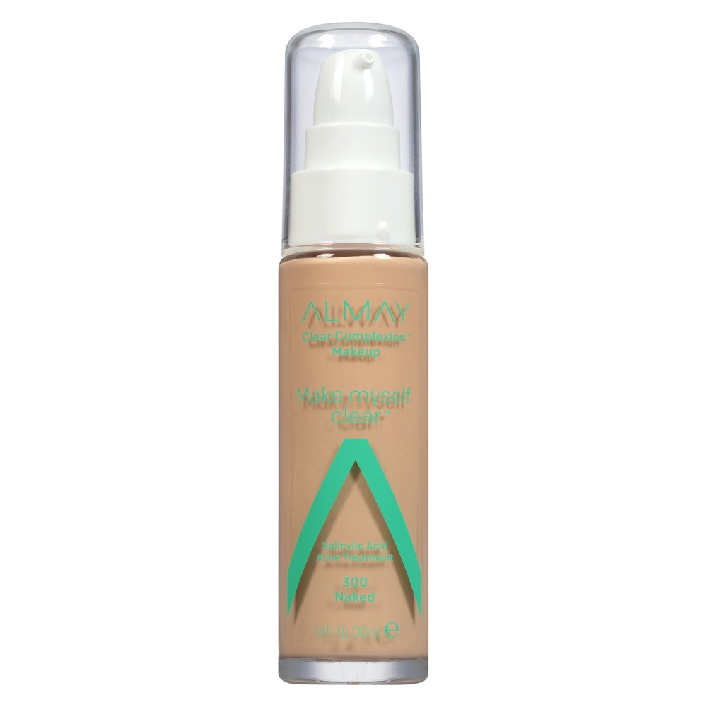 Image of Almay Clear Complexion Makeup Make Myself Clear 300 Naked - 1 fl oz.