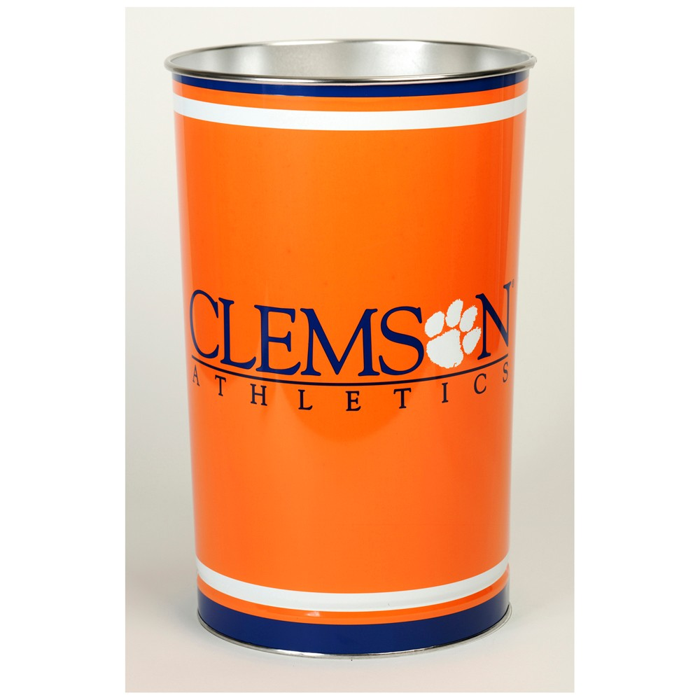 NCAA Clemson Tigers Tall Waste Basket