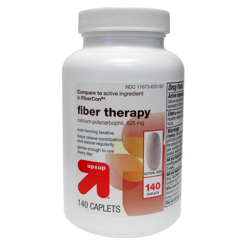 Fiber Therapy 625mg Caplets - 140ct - Up&Up (Compare to active ingredient in FiberCon)