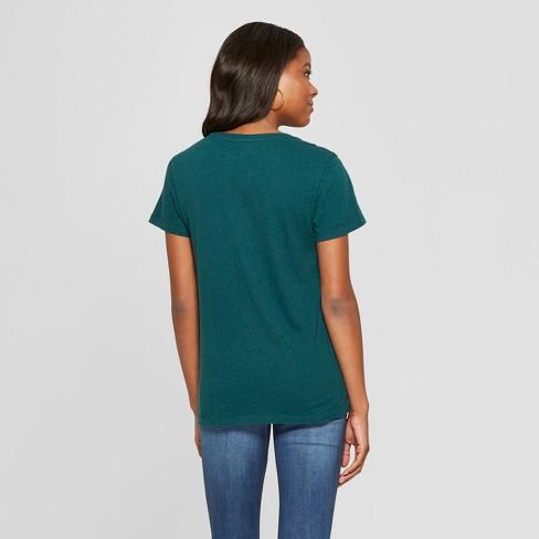 eb0ff293ff317a Women's Monterey Pocket V-Neck Short Sleeve T-Shirt - Universal Thread™ Teal