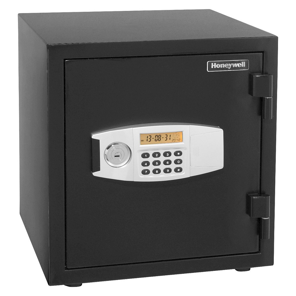 Image of 1.23 Cu. Ft. Water Resistant Steel Fire & Security Safe, Black
