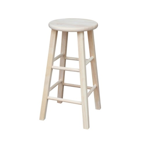 Round Top Barstool Unfinished - International Concepts - image 1 of 3